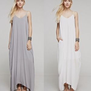 White Bohemian Lined Cocoon Maxi Dress